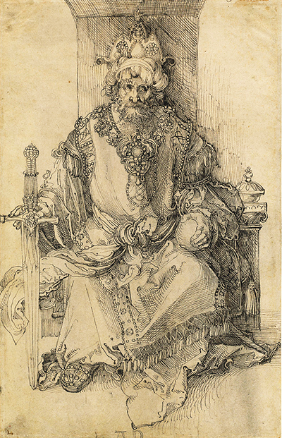 An Oriental Ruler Seated on his Throne Albrecht Durer